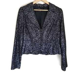 carmen marc valvo sequin cropped jacket size 10